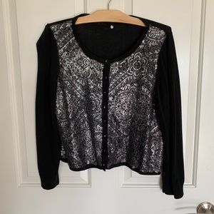 Knitted and Knotted Cardigan Anthropologie LARGE